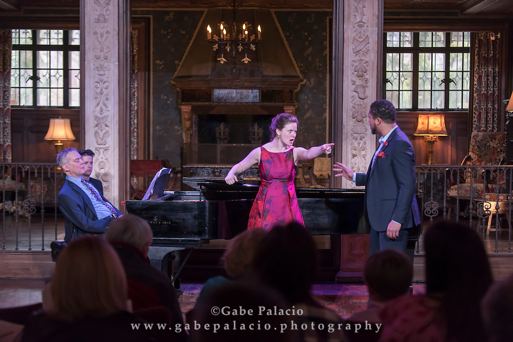 Vocal Rising Stars performance featuring Liv Redpath, Abi Levis, Galeano Salas, Justin Austin, and William Kelley, with distinguished artists Steven Blier and Michael Barrett, at Caramoor in Katonah New York on March 13, 2016. <br /> (photo by Gabe Palacio)