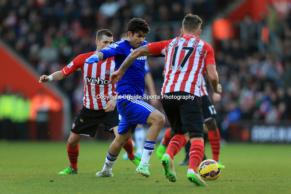 28th December 2014 - Barclays Premier League - Southampton v Chelsea - Diego Costa of Chelsea - Photo: Simon Stacpoole / Offside.