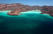 Aerial photography at Espiritu Santo Island, at the sea of cortez, aerial photography by Francisco Estrada