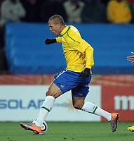 Ellis Park  Johannesburg World Cup 2010  Brazil v Korea (2-1) DPR Match 14 15/06/10<br /> Luis Fabiano ( Brazil) <br /> Photo Roger Parker Fotosports International
