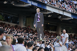 March 16, 2019 - Madrid, Madrid, Spain - Real Madrid's fans seen with a real size photo of Zinedine Zidane during La Liga match between Real Madrid and Real Club Celta de Vigo at Santiago Bernabeu Stadium in Madrid, Spain. (Credit Image: © Legan P. Mace/SOPA Images via ZUMA Wire)