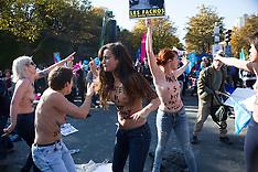 Paris: Femen Protest Against Movement 'La Manif Pour, 16 Oct. 2016
