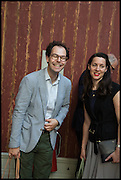 JOSH SPERO; VICTORIA SIDDALL, Drinks party to launch this year's Frieze Masters.Hosted by Charles Saumarez Smith and Victoria Siddall<br />  Academicians' room - The Keepers House. Royal Academy. Piccadilly. London. 3 July 2014