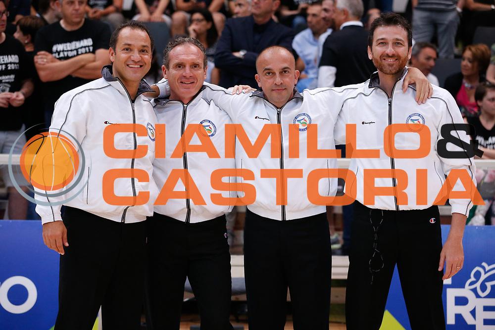 Arbitri<br /> Dolomiti Energia Aquila Basket Trento - Umana Reyer Venezia <br /> Lega Basket Serie A 2016/17 Finali Gara 03<br /> Trento, 14/06/2017<br /> Foto Ciamillo-Castoria / M. Brondi