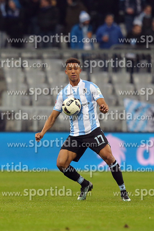 16.12.2016, Allianz Arena, M&uuml;nchen, GER, 2. FBL, TSV 1860 Muenchen vs 1. FC Heidenheim, 17. Runde, im Bild Ohis Felix Uduokhai ( TSV 1860 Muenchen #17 ) // during the 2nd German Bundesliga 17th round match between TSV 1860 Muenchen vs 1. FC Heidenheim at the Allianz Arena in M&uuml;nchen, Germany on 2016/12/16. EXPA Pictures &copy; 2016, PhotoCredit: EXPA/ Eibner-Pressefoto/ Langer<br /> <br /> *****ATTENTION - OUT of GER*****