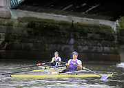 London, United Kingdom.  left,  Sophie HOSKING and Jessica EDDIE,  following  the 2009  Women's Wingfield Sculls, Raced over the Championship Course,  Putney to Mortlake, Thursday  05/11/2009 [Mandatory Credit Peter Spurrier/ Intersport Images]