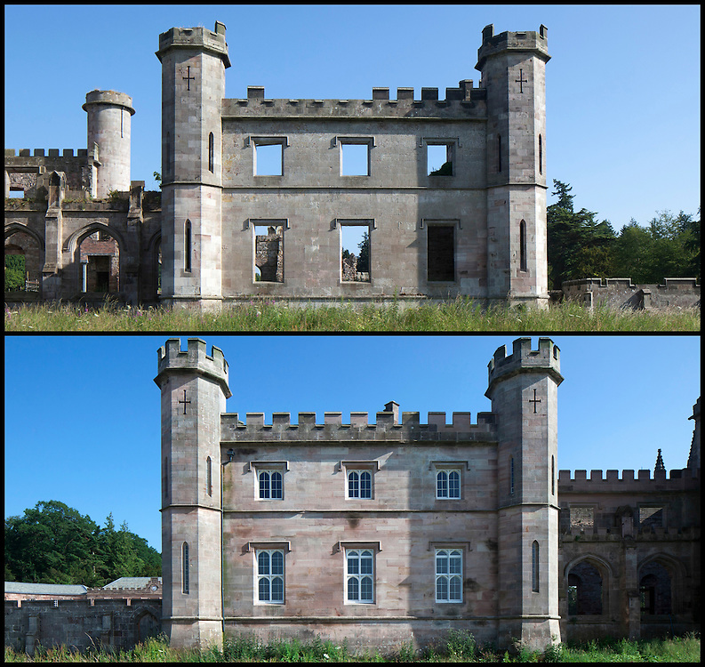 Lowther Castle in Cumbria was built between 1806 and 1814 by a young Robert Smirke. Smirke was a pupil of Sir John Soane and is known for building the British Museum. Lowther is currently undergoing a major conservation and restoration project.