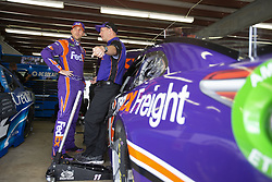 July 21, 2018 - Loudon, New Hampshire, United States of America - Denny Hamlin (11) gets ready to practice for the Foxwoods Resort Casino 301 at New Hampshire Motor Speedway in Loudon, New Hampshire. (Credit Image: © Stephen A. Arce/ASP via ZUMA Wire)