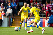 AFC Wimbledon midfielder George Francomb (7) asks for the ball during the EFL Sky Bet League 1 match between Scunthorpe United and AFC Wimbledon at Glanford Park, Scunthorpe, England on 5 August 2017. Photo by Simon Davies.