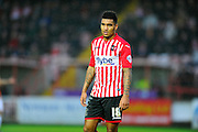 Exeter City's Jamie Reid during the Sky Bet League 2 match between Exeter City and Luton Town at St James' Park, Exeter, England on 19 December 2015. Photo by Graham Hunt.