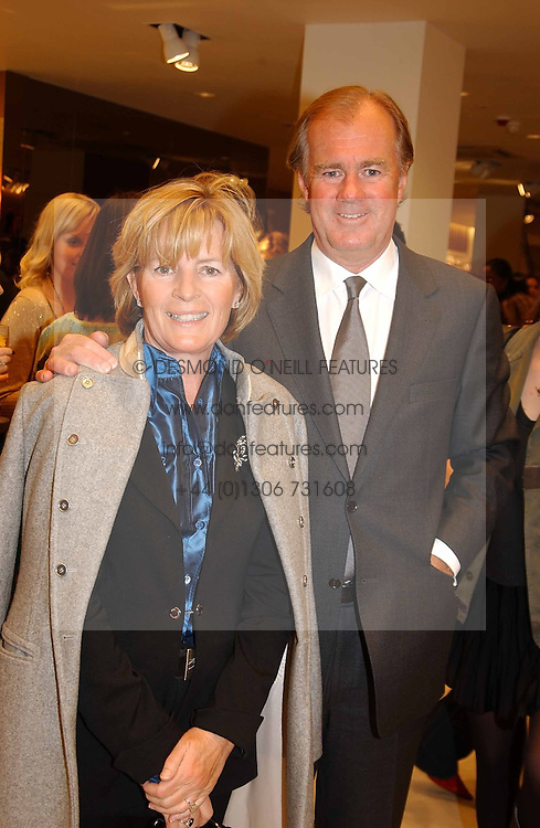 STEFAN & DENISE PERSSON he is chairman of Hennes & Maurit at a party to celebrate the opening of the new H&M Flagship Store at 17-21 Brompton Road, London SW3 on 23rd March 2005.<br />