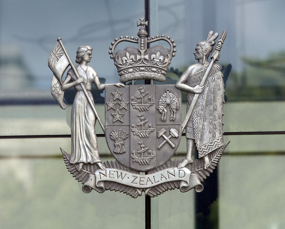 High Court coat of arms, Wellington, New Zealand, Thursday, February 15, 2007. Credit:SNPA / Ross Setford..