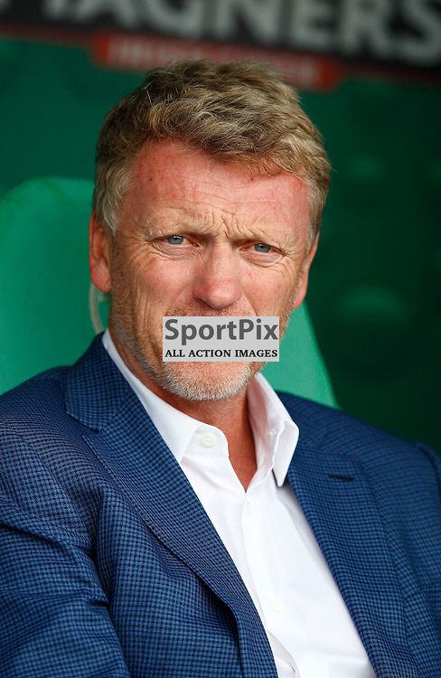 CELTIC v REAL SOCIEDAD.Pre-season friendly....David Moyes  watching his team warm up...(c) STEPHEN LAWSON   SportPix.org.uk