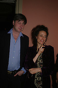 The Marquess and Marchioness  of Worcester. andrew Roberts and Leonie Frieda celebrate the publication of Andrew's 'Waterloo: Napoleon's Last Gamble' and the paperback of Leonie's 'Catherine de Medic'i. English-Speaking Union, Dartmouth House. London. 8 February 2005. ONE TIME USE ONLY - DO NOT ARCHIVE  © Copyright Photograph by Dafydd Jones 66 Stockwell Park Rd. London SW9 0DA Tel 020 7733 0108 www.dafjones.com