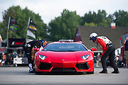 August 22-24, 2014: Virginia International Raceway. Aventador pace car