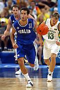 ATENE,  27 AGOSTO 2004<br /> OLIMPIADI ATENE 2004<br /> BASKET, SEMIFINALE<br /> ITALIA - LITUANIA<br /> NELLA FOTO: MASSIMO BULLERI<br /> FOTO CIAMILLO