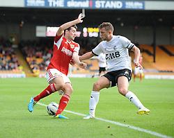 Bristol City's Brendan Moloney cuts inside - Photo mandatory by-line: Dougie Allward/JMP - Tel: Mobile: 07966 386802 05/10/2013 - SPORT - FOOTBALL - Vale Park - Stoke-on-Trent - Port Vale V Bristol City - Sky Bet League 1
