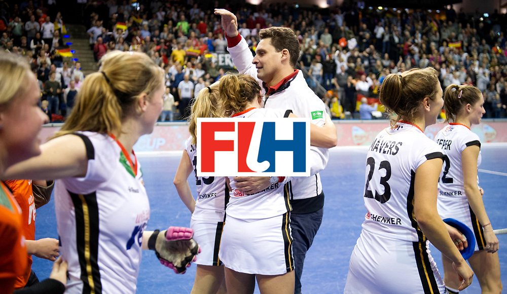 BERLIN - Indoor Hockey World Cup<br /> Semi-final: Belarus - Germany<br /> foto: AKim Bouchouchi.<br /> WORLDSPORTPICS COPYRIGHT FRANK UIJLENBROEK