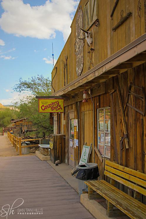 The town of Tortilla Flat, AZ
