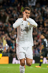 20.03.2016, Estadio Santiago Bernabeu, Madrid, ESP, Primera Division, Real Madrid vs Sevilla FC, 30. Runde, im Bild Real Madrid's Cristiano Ronaldo celebrating a goal // during the Spanish Primera Division 30th round match between Real Madrid and Sevilla FC at the Estadio Santiago Bernabeu in Madrid, Spain on 2016/03/20. EXPA Pictures © 2016, PhotoCredit: EXPA/ Alterphotos/ Borja B.Hojas<br /> <br /> *****ATTENTION - OUT of ESP, SUI*****