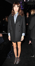 FEB 17 2013 Alexa Chung at London Fashion Week