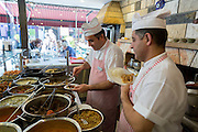 Chefs at Ciya Sofrasi Turkish restaurant serving Ottoman specialities in Kadikoy district Asian side Istanbul, East Turkey