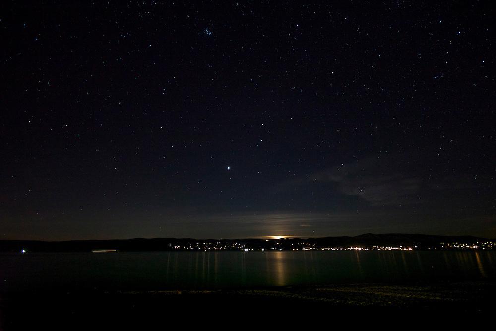 Setting Moon, Bear Lake Utah