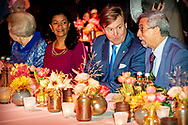 ROTTERDAM - King Willem-Alexander and Queen Maxima meet the Cape Verdean president Jorge Carlos de Almeida Fonseca and his wife at the Cruis terminal for a concert. Fonseca is in the Netherlands for a two-day state visit. copyrught robin utrecht