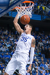 Kentucky forward Derek Willis slams two in the second half.<br /> <br /> The University of Kentucky hosted the University of Missouri, Wednesday, Jan. 27, 2016 at Rupp Arena in Lexington.