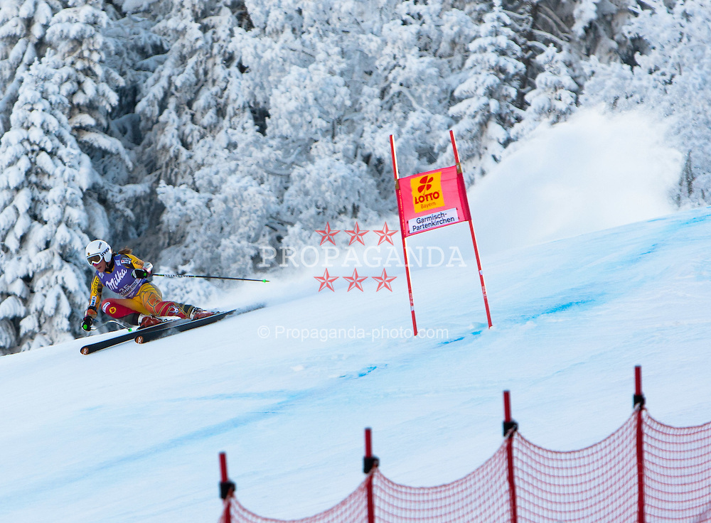 05.02.2012, Kandahar, Garmisch Partenkirchen, GER, FIS Weltcup Ski Alpin, Damen, SuperG, im Bild Larisa Yurkiw (CAN) // Larisa Yurkiw of Canada during SuperG race of FIS Ski Alpine World Cup at 'Kandahar' course in Garmisch Partenkirchen, Germany on 2012/02/05. EXPA Pictures © 2012, PhotoCredit: EXPA/ Johann Groder