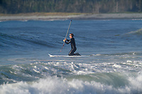 Stand-up paddle boarder, Cherry Hill Beach, Nova Scotia, Canada