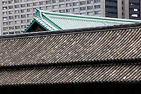 Japan Tokyo Tokyo Imperial Palace Rooftop of Otemon (East Gate) close-up