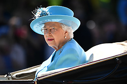 © Licensed to London News Pictures. 09/06/2018. London, UK. Members of the Royal family attend Trooping The Colour ceremony in London to mark the 92nd birthday of Queen Elizabeth II, Britain's longest reigning monarch. Photo credit: Ben Cawthra/LNP