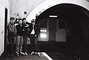 Teenagers, Bond Street Underground Station, London, UK, 1981