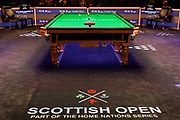 Action is about to get underway at the first session of the World Snooker 19.com Scottish Open Final Mark Selby vs Jack Lisowski at the Emirates Arena, Glasgow, Scotland on 15 December 2019.