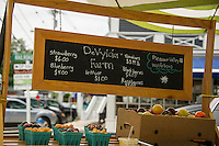 DeVylder Farm selling fresh produce from their stand on Main Street in Wolfeboro during the summer months.  (Karen Bobotas/Photographer)