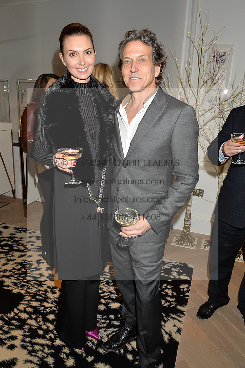 OLGA STEPP and STEPHEN WEBSTER at a private view of Stephen Webster's new White Kite collection held at his store at 130 Mount Street, London on 24th November 2016.