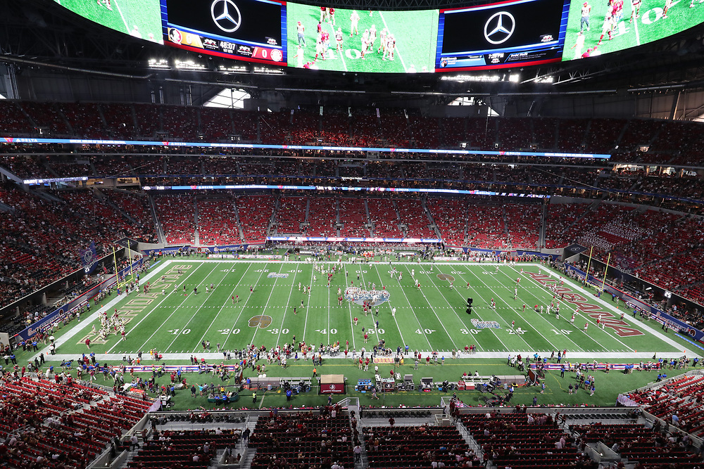 Unedited images during the Chick-fil-A Kickoff NCAA football game on Saturday, September 2, 2017, in Atlanta. (Bob Snow via Abell Images for Chick-fil-A Kickoff Game)