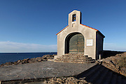 Chapelle St Vincent, 1642, Collioure, France. This tiny chapel is perched on top of a shale cliff, previously an island, but now connected to the land by a dike. It was built for a hermit and contains only a single room. Picture by Manuel Cohen.