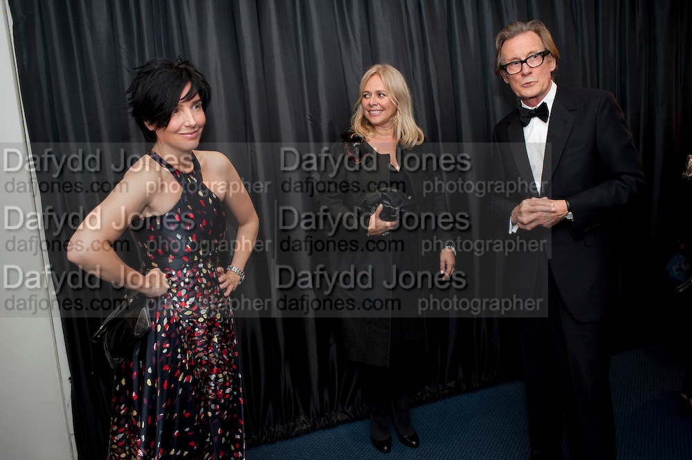 SHARLEEN SPITERI; KIERA PARKS; BILL NIGHY, GQ Men of the Year awards. The royal Opera House. Covent Garden. London. 6 September 2011. <br /> <br />  , -DO NOT ARCHIVE-&copy; Copyright Photograph by Dafydd Jones. 248 Clapham Rd. London SW9 0PZ. Tel 0207 820 0771. www.dafjones.com.
