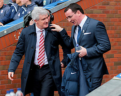 Stoke City Manager, Mark Hughes and Gary Bowyer, Manager of Blackburn Rovers   -  Photo mandatory by-line: Matt McNulty/JMP - Mobile: 07966 386802 - 14/02/2015 - SPORT - Football - Blackburn - Ewood Park - Blackburn Rovers v Stoke City - FA Cup - Fifth Round