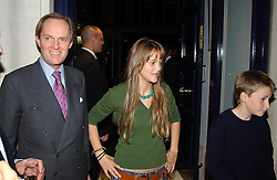 Left to right, The MARQUESS OF DOURO, LADY CHARLOTTE WELLESLEY and LORD FREDERICK WELLESLEY at a party to celebrate the 21st year of Hackett held at their store in Sloane Street, London on 26th October 2004.<br /><br />NON EXCLUSIVE - WORLD RIGHTS