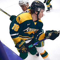 1st year forward, Tyler Adams (18) of the Regina Cougars during the Men's Hockey Home Game on Sat Jan 26 at Co-operators Center. Credit: Arthur Ward/Arthur Images