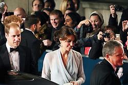 William Duke of Cambridge, Kate Duchess of Cambridge, Bond: Spectre - World Premiere & Royal Film Performance, Royal Albert Hall, London UK, 26 October 2015, Photo by Richard Goldschmidt