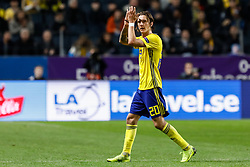 November 21, 2018 - Stockholm, Sweden - Kristoffer Olsson of Sweden during the UEFA Nations League B Group 2 match between Sweden and Russia on November 20, 2018 at Friends Arena in Stockholm, Sweden. (Credit Image: © Mike Kireev/NurPhoto via ZUMA Press)