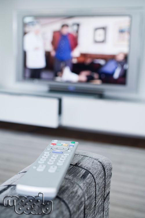 Remote control and television set