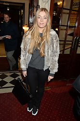 BECKY HILL at Beautiful - The Carole King Musical 1st Birthday celebration evening at The Aldwych Theatre, London on 23rd February 2016.