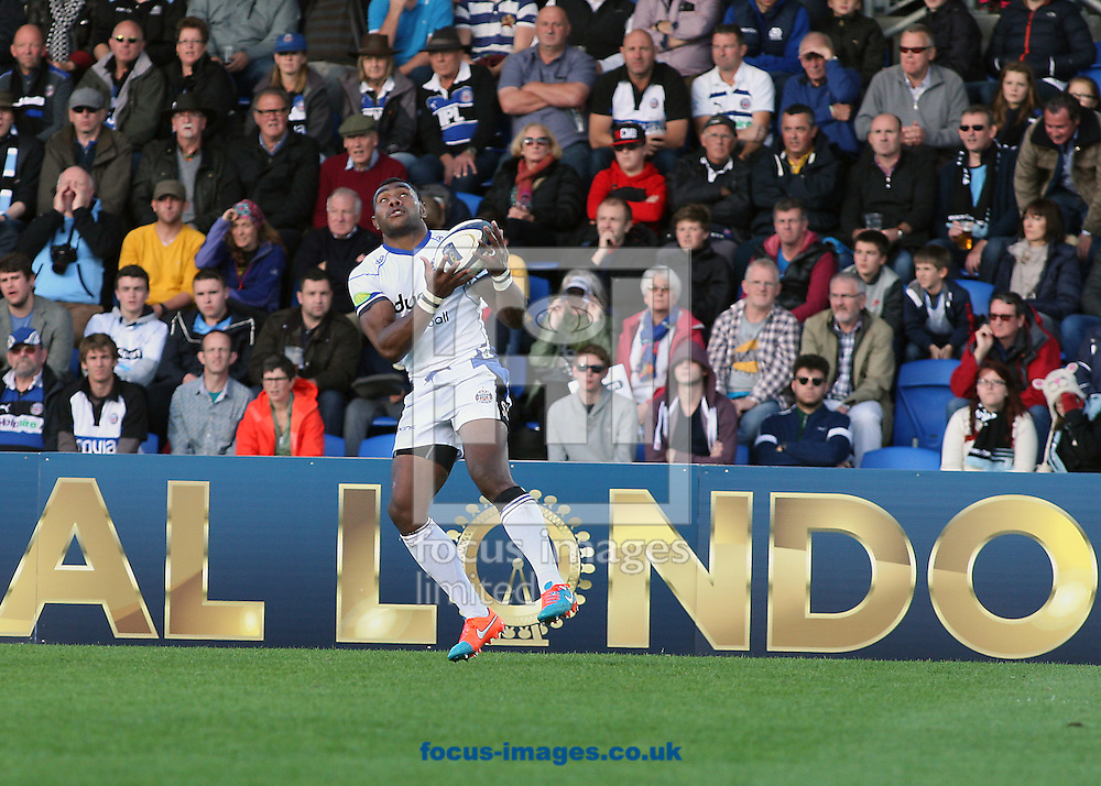 Semesa Rokoduguni of Bath Rugby during the European Rugby Champions Cup match at Scotstoun Stadium, Glasgow<br /> Picture by Ian Buchan/Focus Images Ltd +44 7895 982640<br /> 18/10/2014