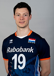 14-05-2018 NED: Team shoot Dutch volleyball team men, Arnhem<br /> Just Dronkers #19 of Netherlands