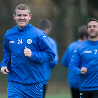 St Johnstone Training....21.11.14<br /> Brian Easton pictured during training this morning ahead of tomorrow's league gam against Ross County.<br /> Picture by Graeme Hart.<br /> Copyright Perthshire Picture Agency<br /> Tel: 01738 623350  Mobile: 07990 594431